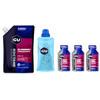 GU Energy Roctane Gel Sports Nutrition Blueberry Pomegranate Vorratsbeutel 480g + 3x32g Gels + Flask purple/blue